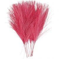 Keinotekoiset höyhenet, Pit. 15 cm, Lev: 8 cm, pinkki, 10 kpl/ 1 pkk