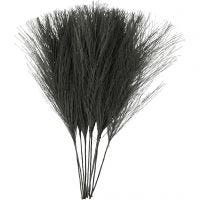 Keinotekoiset höyhenet, Pit. 15 cm, Lev: 8 cm, musta, 10 kpl/ 1 pkk