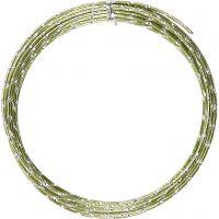 Alumiinilanka, timanttileikattu, paksuus 2 mm, vihreä, 7 m/ 1 rll