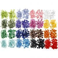 Minimosaiikit, koko 5x5+10x10 mm, 32x25 g/ 1 pkk