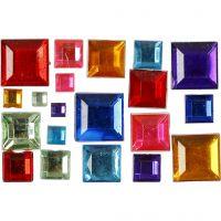 Akryylitimantit, mosaiikki, koko 4-10 mm, 1300 kpl/ 1 pkk
