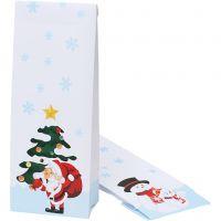 Paperipussi jouluisella kuvalla, joulu, koko 10x6x28 cm, 100 kpl/ 1 pkk