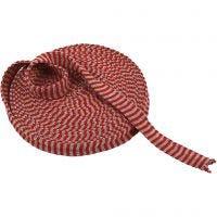 Kudosputki, Lev: 22 mm, joulunpunainen/harmaa, 10 m/ 1 rll