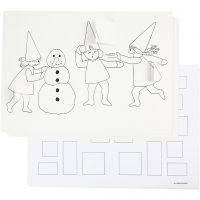 Joulukalenteri, tontut lumisodassa, A3, 30 kpl/ 1 pkk