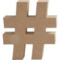 Symboli, #, Kork. 13 cm, paksuus 2 cm, 1 kpl