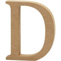 MDF-kirjain, D, Kork. 13 cm, paksuus 2 cm, 1 kpl