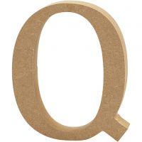 MDF-kirjain, Q, Kork. 13 cm, paksuus 2 cm, 1 kpl
