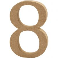Numero, 8, Kork. 13 cm, paksuus 2 cm, 1 kpl