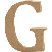 MDF-kirjain, G, Kork. 8 cm, paksuus 1,5 cm, 1 kpl