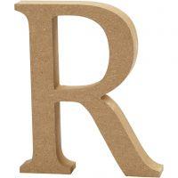 MDF-kirjain, R, Kork. 8 cm, paksuus 1,5 cm, 1 kpl