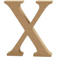 MDF-kirjain, X, Kork. 8 cm, paksuus 1,5 cm, 1 kpl