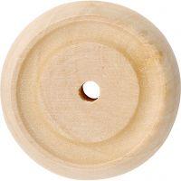 Puupyörä, halk. 30x10 mm, 40 kpl/ 1 pkk
