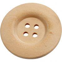 Puunapit, halk. 40 mm, aukon koko 3 mm, 4 reikää, 6 kpl/ 1 pkk
