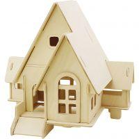 3D-palapeli, talo ramppeineen, koko 22,5x17,5x20,5 , 1 kpl