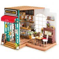 DIY minihuone, Kahvila, Kork. 19 cm, Pit. 22,6 cm, Lev: 19,4 cm, 1 kpl