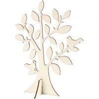 Puu, Kork. 24 cm, Lev: 18,4 cm, 1 kpl
