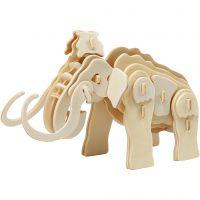 3D-palapeli, mammutti, koko 19x8,5x11 cm, 1 kpl