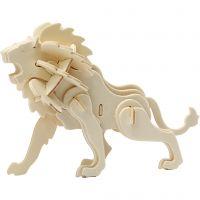 3D-palapeli, leijona, koko 18,5x7x7,3 , 1 kpl