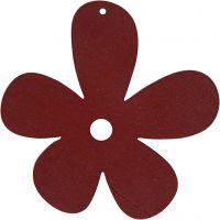 Kukka, koko 57x51 mm, viininpunainen, 10 kpl/ 1 pkk