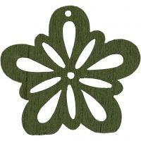 Kukka, halk. 27 mm, tummanvihreä, 20 kpl/ 1 pkk