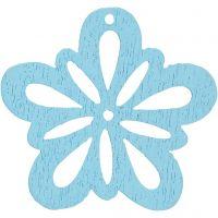 Kukka, halk. 27 mm, vaalea turkoosi, 20 kpl/ 1 pkk
