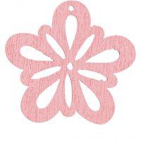 Kukka, halk. 27 mm, rosa, 20 kpl/ 1 pkk