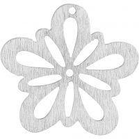 Kukka, halk. 27 mm, luonnonvalkonen, 20 kpl/ 1 pkk