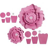 Paperikukat, halk. 15+25 cm, 230 g, vaaleanpunainen, 2 kpl/ 1 pkk