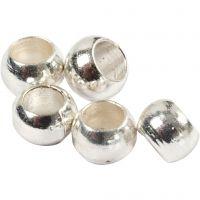 Lukitushelmi, halk. 2 mm, hopeanväriset, 1000 kpl/ 1 pkk