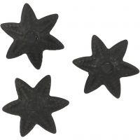 Kalotti, halk. 10 mm, musta, 10 kpl/ 1 pkk