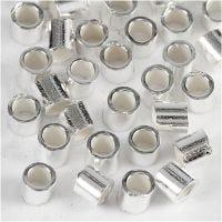 Lukitushelmi, halk. 2 mm, sterling-hopea, 50 kpl/ 1 pkk