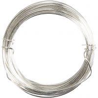Metallilanka, paksuus 0,6 mm, hopeanväriset, 10 m/ 1 rll
