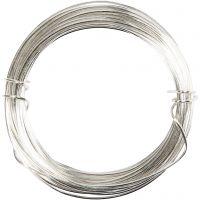 Metallilanka, paksuus 0,8 mm, hopeanväriset, 6 m/ 1 rll
