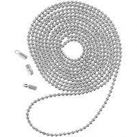 Kuulaketju, halk. 1,5 mm, hopeanväriset, 1 m