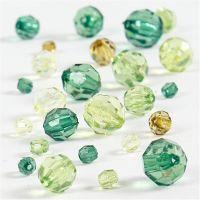 Särmähelmet, koko 4-12 mm, aukon koko 1-2,5 mm, glitter vihreä, 45 g/ 1 pkk