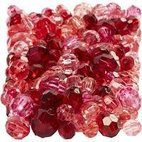 Särmähelmet, koko 4-12 mm, aukon koko 1-2,5 mm, punaiset sävyt, 250 g/ 1 pkk