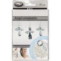 Ripustettava enkeli, Kork. 2,8 cm, 32 kpl/ 1 pkk