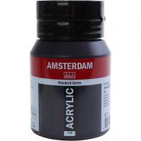 Amsterdam- akryylimaali, peittävä, Oxide black, 500 ml/ 1 pll
