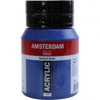 Amsterdam- akryylimaali, kuulto, Phthalo blue, 500 ml/ 1 pll