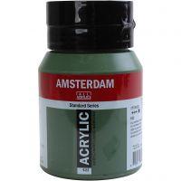 Amsterdam- akryylimaali, peittävä, Olive green deep, 500 ml/ 1 pll