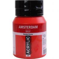 Amsterdam- akryylimaali, läpikuultavat, Naphtol red medium, 500 ml/ 1 pll