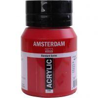 Amsterdam- akryylimaali, läpikuultavat, punainen, 500 ml/ 1 pll