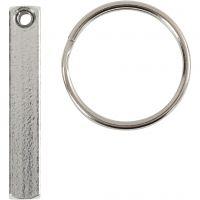 Avaimenperä-pakkaus, koko 40x5 mm, 6 kpl/ 1 pkk