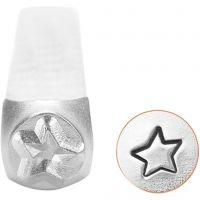 Pakotusleimasin (punsseli), tähti, Pit. 65 mm, koko 3 mm, 1 kpl