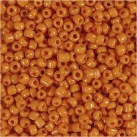 Rocaille-siemenhelmet, halk. 3 mm, koko 8/0 , aukon koko 0,6-1,0 mm, oranssi, 500 g/ 1 pkk