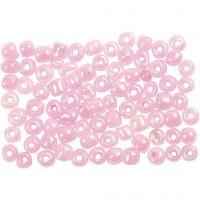 Rocaille-siemenhelmet, halk. 4 mm, koko 6/0 , rosa, 500 g/ 1 pkk