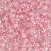 Rocaille-siemenhelmet, halk. 4 mm, koko 6/0 , aukon koko 0,9-1,2 mm, ruusunkukka, 25 g/ 1 pkk