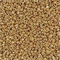 Rocaille-siemenhelmet, halk. 1,7 mm, koko 15/0 , aukon koko 0,5-0,8 mm, messinki, 25 g/ 1 pkk