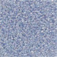 Rocaille-siemenhelmet, halk. 1,7 mm, koko 15/0 , aukon koko 0,5-0,8 mm, vaaleansininen, 500 g/ 1 pss