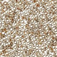 Rocaille-siemenhelmet, halk. 1,7 mm, koko 15/0 , aukon koko 0,5-0,8 mm, kulta rosa, 25 g/ 1 pkk